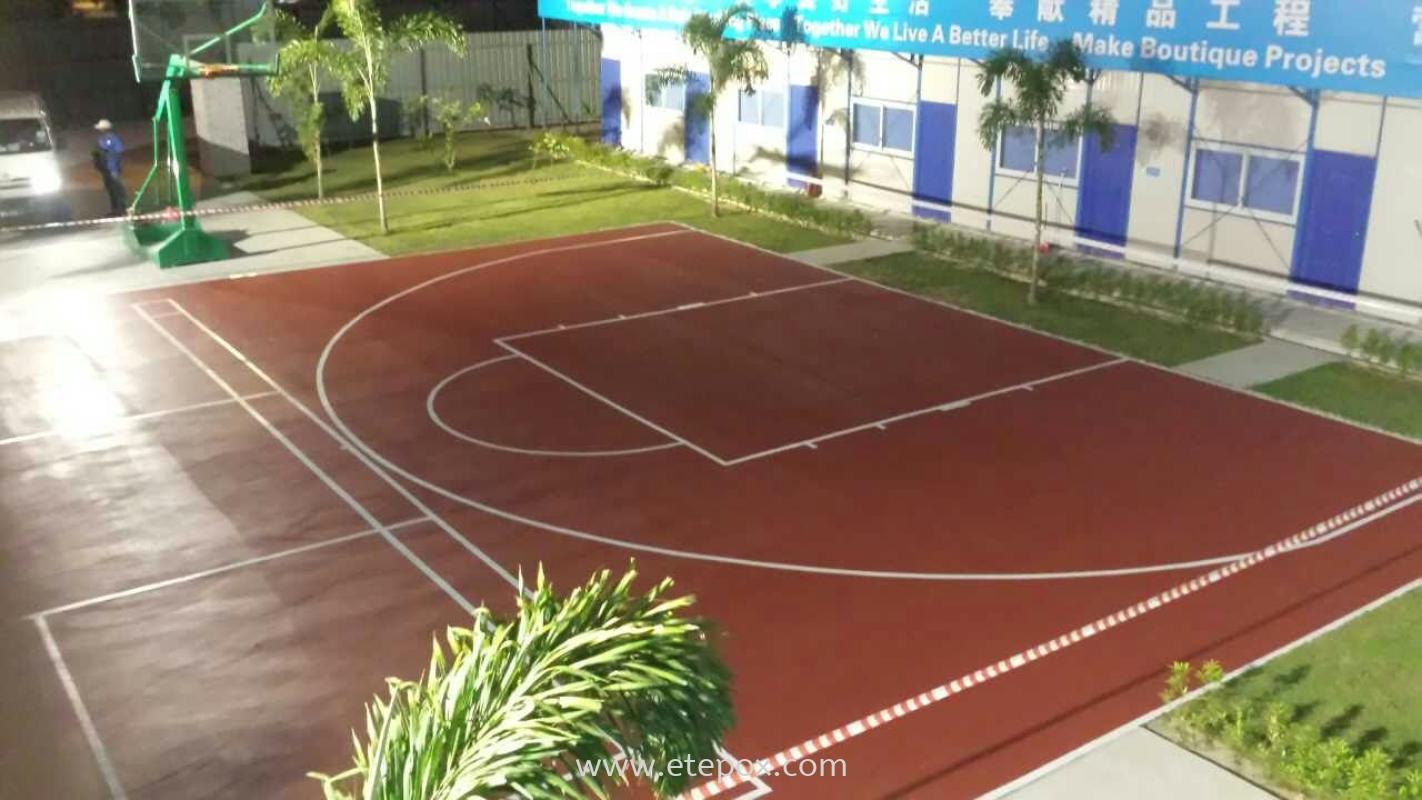 Pu Rubbersied Sport Court System China Contractor Hostel Basketball Court Kuala Lumpur Selangor Malaysia Kuala Lumpur Kl Sabah Cheras Supplier Suppliers Supply Supplies Etepox Solution Sdn Bhd