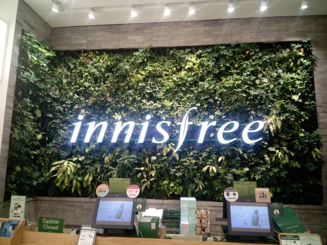 Vertical Garden_Innisfree_IOI_city_mall