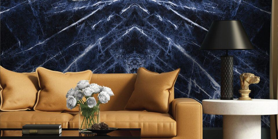 Sodalite Blue Quartzite Feature Wall (Bookmatched)