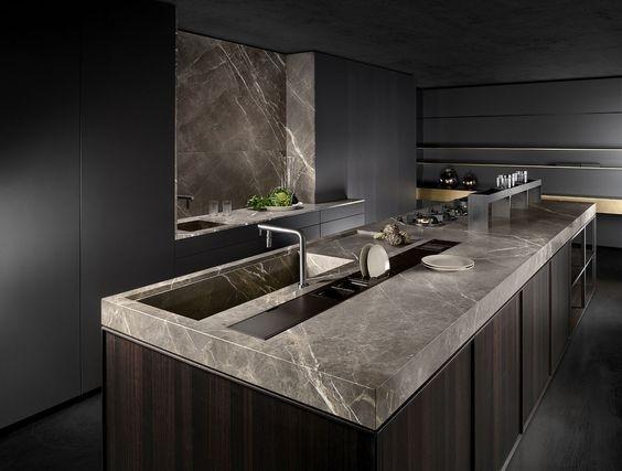 Pietra Gray Marble Kitchen