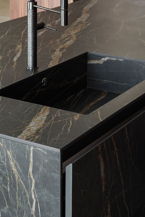 Tropical Storm Marble Sink Countertop
