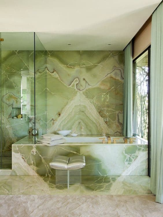 Green Onyx Feature Wall