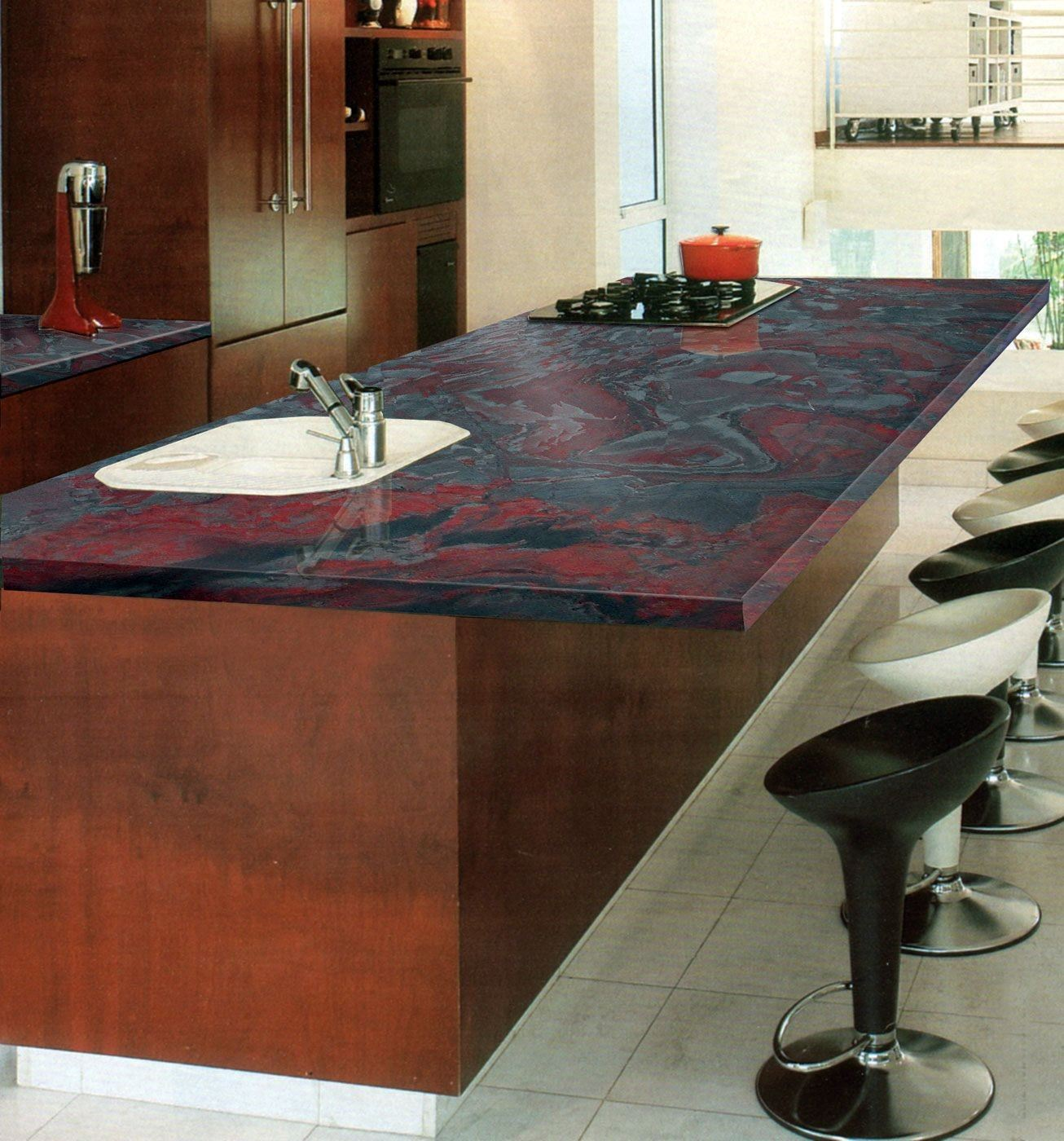 Iron Red Countertop