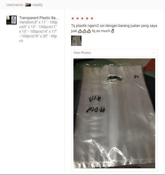 Customer Feedback PP Plastic Bag / Shopping Plastic Bag With Handle