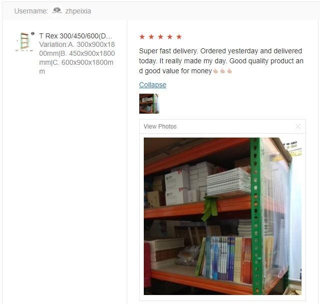 Customer feedback T Rex Warehouse 4 Tier Boltless Storage Rack