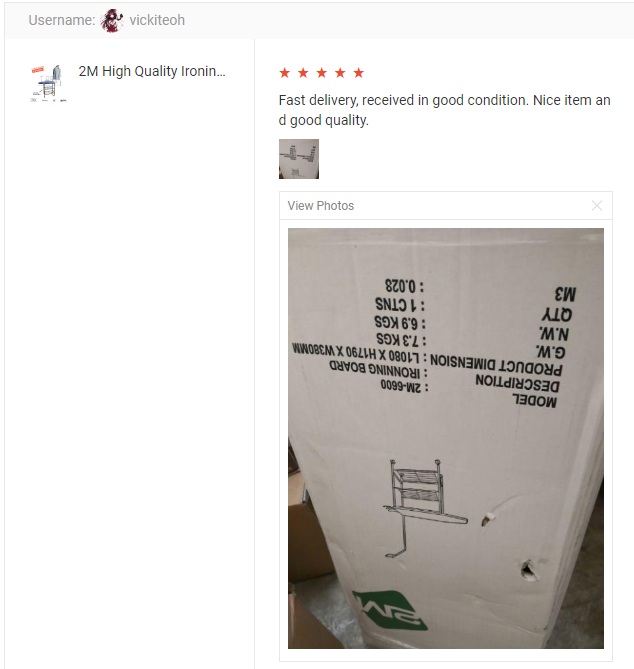 Customer Feedback 2M High Quality Ironing Board with Storage Space (Copper)