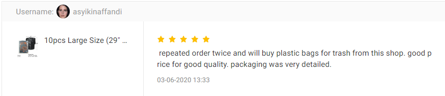 CUSTOMER FEEDBACK FOR Large Size (29 Inch x 35 Inch) Garbage Bag