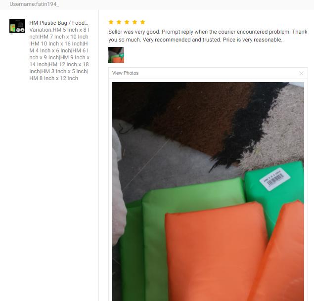 CUSTOMER FEEDBACK FOR HM Plastic Bag / Food Packaging Plastic Bag / Take Away Plastic Bag / Food Pac