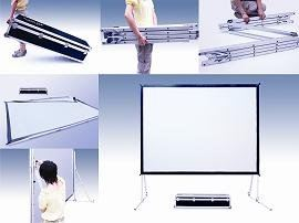Foldline Projector Portable Screen KIARA Projector Screen Johor Bahru (JB), Malaysia Supplier, Supply, Supplies, Retailer | SH Communications & Technologies Sdn Bhd / S.H. MARKETING