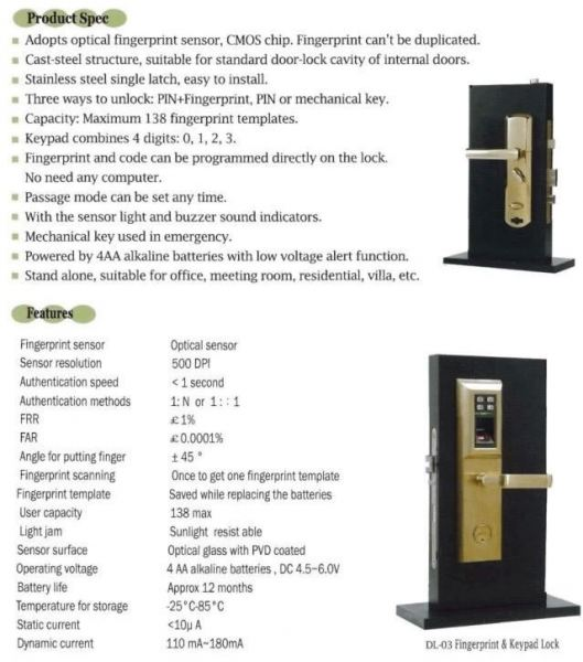 DL-03 Impaq Door Access Control System Singapore Supplier, Supply, Supplies, Installation | TMA Technology System Pte Ltd