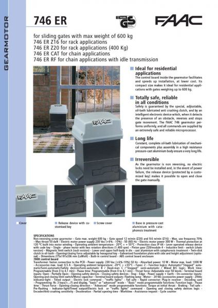 Auto Gate FAAC 746 Sliding System. Automatic Gate and Barrier System Singapore Supplier, Supply, Supplies, Installation   TMA Technology System Pte Ltd