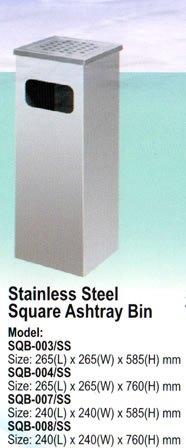 SQB-003/SS Stainless Steel Bin Johor Bahru JB Malaysia Supply Suppliers Distributors | Budi Karya Enterprise