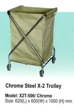 X2T-506/Chome Trolley and House Keeping Johor Bahru JB Malaysia Supply Suppliers Distributors | Budi Karya Enterprise