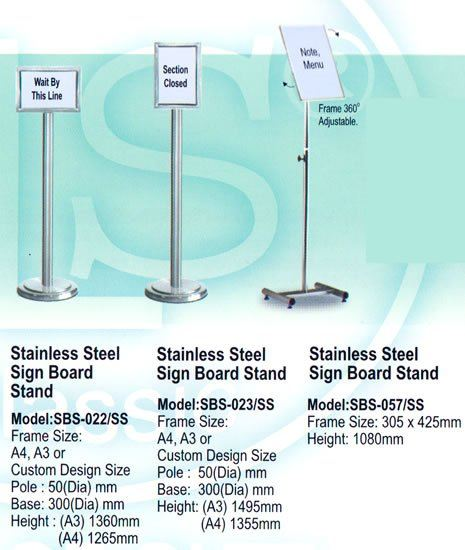 Stainless Steel Sign Board Stand Stainless Steel Q-UP Stand Johor Bahru JB Malaysia Supply Suppliers Distributors | Budi Karya Enterprise