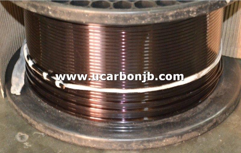 Enamelled Rectangular Copper Strip Class H Copper Strip Copper Wire Johor Bahru (JB), Sarawak, Malaysia Supply Suppliers Distributors | U-Carbon & Electric Sdn Bhd