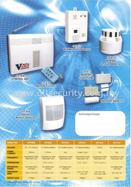 VICTORIA WIRELESS 8 Zones  Wireless Alarm System Burglary Alarm System Singapore, Malaysia, Johor, Selangor, Senai Manufacturer, Supplier, Supply, Supplies | AST Automation Pte Ltd