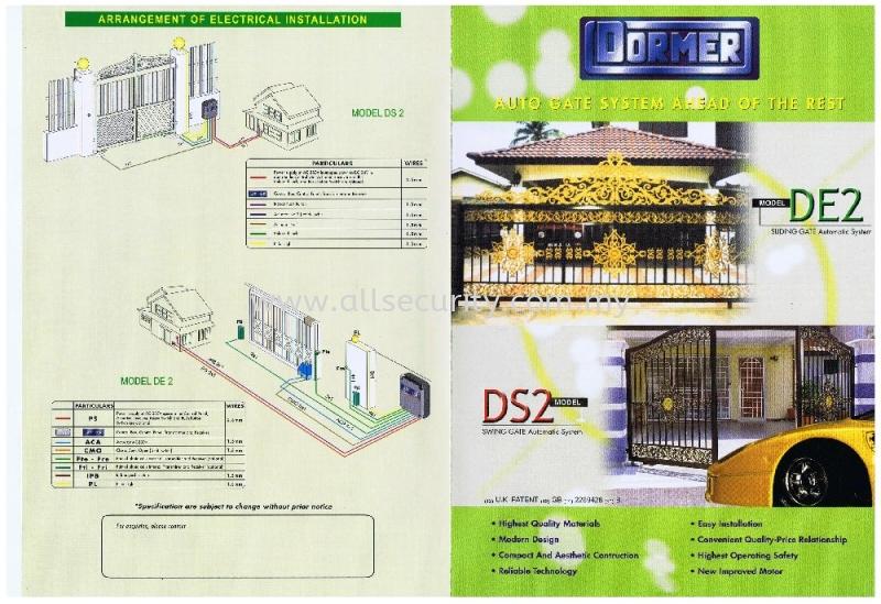 DS2 DORMER Auto Gate System Singapore, Malaysia, Johor, Selangor, Senai Manufacturer, Supplier, Supply, Supplies | AST Automation Pte Ltd