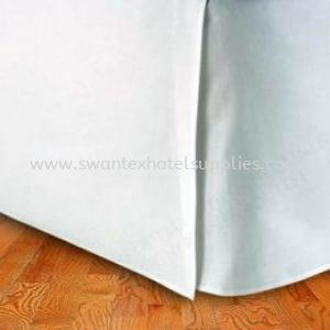 Customize Bed Skirting Supply 100% Polyester  Bed Skirting Johor Bahru (JB), Malaysia Supplier, Suppliers, Supply, Supplies | Swantex Hotel Supplies