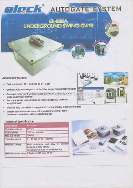 Elock Autogate System Johor Bahru JB Electrical Works, CCTV, Stainless Steel, Iron Works Supply Suppliers Installation  | Seng Xiang Electrical & Steel Sdn Bhd