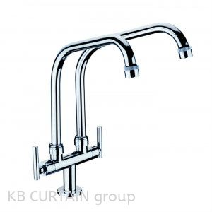 Double Pillar Sink Tap A-7105 Taps and Fittings Kitchen Accessories Johor Bahru (JB), Skudai, Singapore Design, Supplier, Renovation | KB Curtain & Interior Decoration