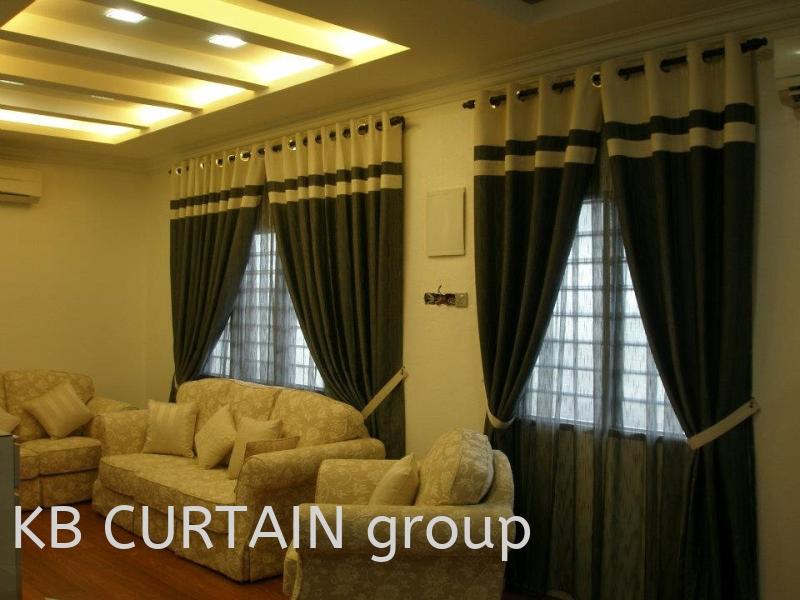eyelet + border Curtain Design Johor Bahru (JB), Skudai, Singapore Design, Supplier, Renovation | KB Curtain & Interior Decoration
