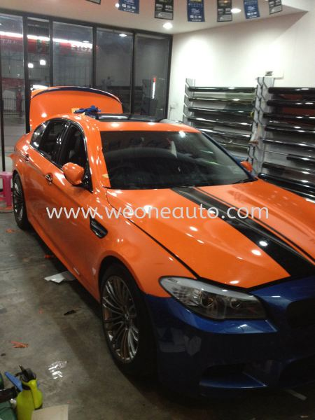 F10 M5 in we one auto station Car Sticker Design Johor Bahru (JB), Johor, Malaysia Supplier, Suppliers, Supply, Supplies | We One Auto Station Sdn Bhd