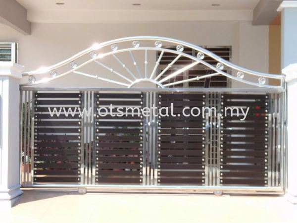 SSG004 Stainless Steel Gate Johor Bahru (JB), Skudai  Design, Supplier, Supply | OTS Metal Works