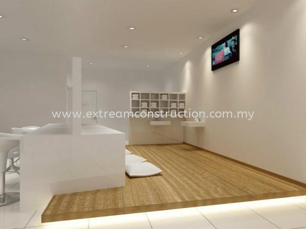 Manicure Shop Make-up Area Design Johor Bahru JB Malaysia Interior Design, Exterior Design, Construction, Renovation | Extream Home Decor Sdn Bhd