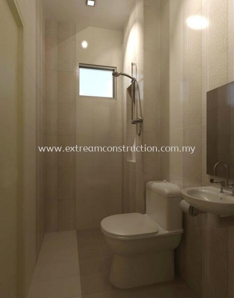 Taman Flora Villa Bathroom Design Johor Bahru JB Malaysia Interior Design, Exterior Design, Construction, Renovation | Extream Home Decor Sdn Bhd