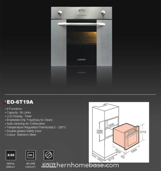 EO6T19A Leben Kitchen Appliances Johor Bahru (JB) Supplier, Supply | Southern Homebase Sdn Bhd