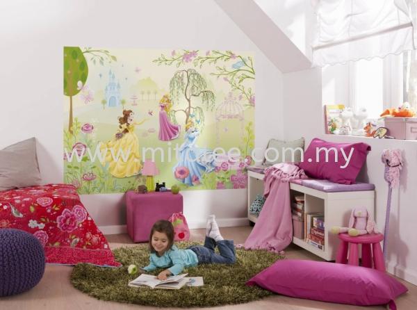 1-417_Princess_Garden_Interieur_i KOMAR- DISNEY Wallpaper (0.53m x 10m) Malaysia, Johor Bahru (JB), Selangor, Kuala Lumpur (KL), Melaka Supplier, Supply | Mitalee Carpet & Furnishing Sdn Bhd