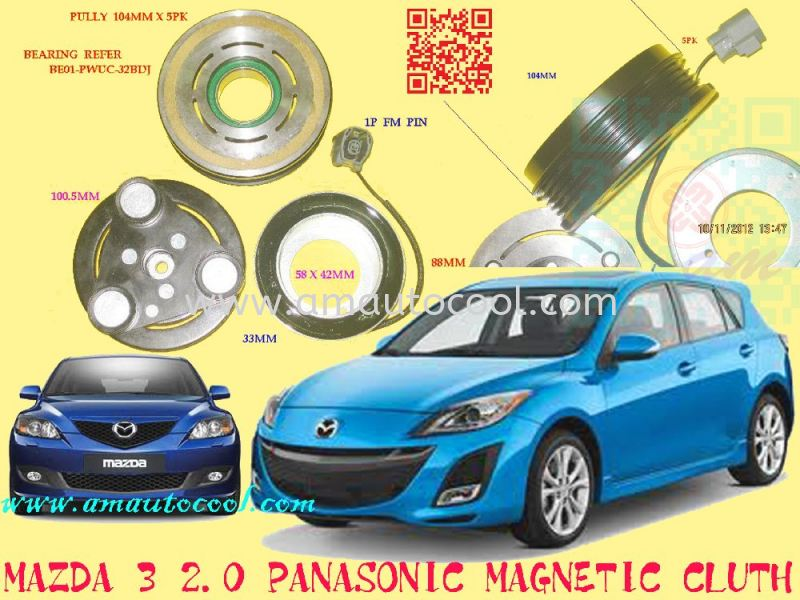 (CLC)  Mazda3  Magnetic Clutch Magnetic Clutch Car Air Cond Parts Johor Bahru JB Malaysia Air-Cond Spare Parts Wholesales Johor, JB, 冷气零件批发 Testing Equipment | Am Autocool Electronic Enterprise