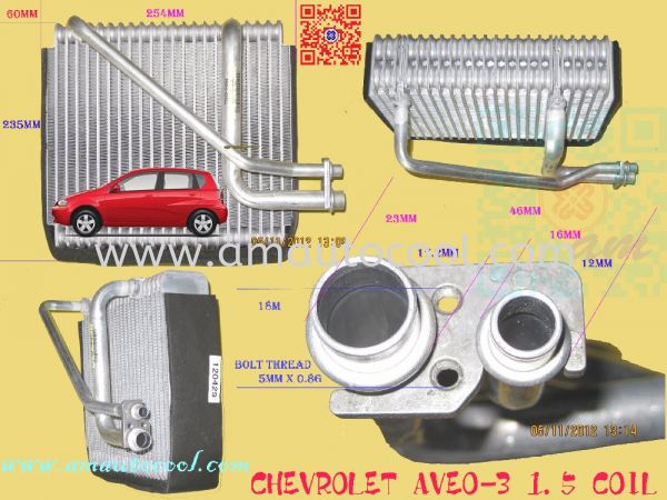 (CLC)  Chevrolet Aveo-3 Cooling Coil  Cooling Coil Car Air Cond Parts Johor Bahru JB Malaysia Air-Cond Spare Parts Wholesales Johor, JB, 冷气零件批发 Testing Equipment   Am Autocool Electronic Enterprise