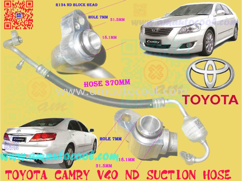 (H&P)  Toyota Camry V40 ND Suction Hose Hose ,Pipe Car Air Cond Parts Johor Bahru JB Malaysia Air-Cond Spare Parts Wholesales Johor, JB, 冷气零件批发 Testing Equipment | Am Autocool Electronic Enterprise