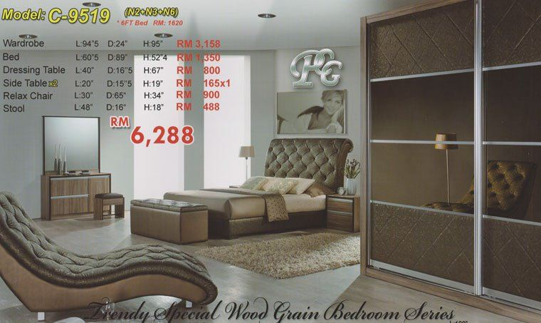 C-9519 Other Bedroom Set JB, Johor Bahru, Malaysia Supplier, Suppliers, Supply, Supplies | Super Best Furniture Centre Sdn Bhd