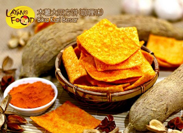 Curry Tapioca Cracker (XL) ľÊí´óËÄ·½±ý (¿§à¬Î¶) Tapioca Crackers Johor, Layang-Layang, Malaysia Supply, Supplier, Supplies   Layang Food Sdn Bhd