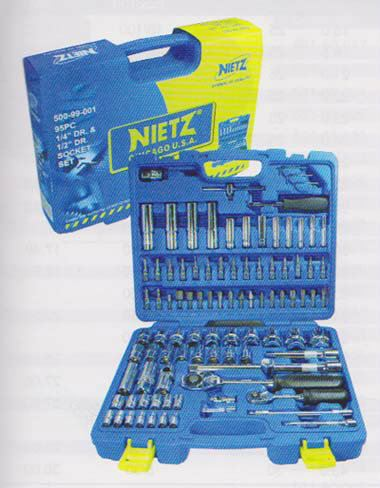 95PC 1 and 4 DR. & 1 and 2 DR. master Combination Socket  Bist Set NIETZ Tools Johor Bahru (JB), Masai, Pasir Gudang Supply, Supplier, Supplies | Standard Bolts & Tools Sdn Bhd