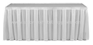 Single Box Pleat Table Skirting Johor Bahru (JB), Malaysia Supplier, Suppliers, Supply, Supplies | Swantex Hotel Supplies