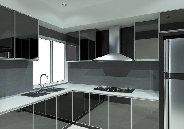 Kitchen Design 3D Design Johor Bahru (JB), Malaysia, Selangor, Kuala Lumpur (KL), Gelang Patah, Kajang Design | Classy Project Management Sdn Bhd