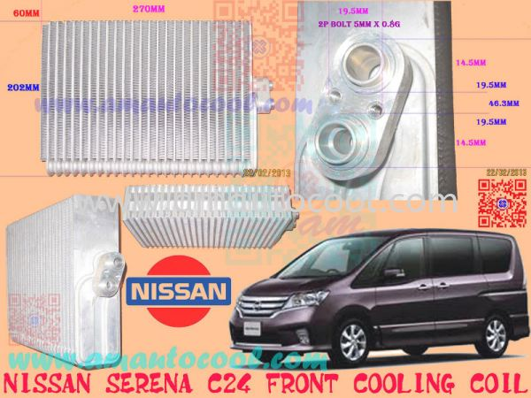 (CLC)  Nissan Serena C24 F Cooling Coil Cooling Coil Car Air Cond Parts Johor Bahru JB Malaysia Air-Cond Spare Parts Wholesales Johor, JB, 冷气零件批发 Testing Equipment   Am Autocool Electronic Enterprise