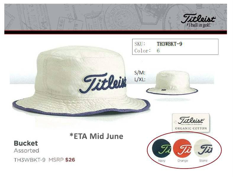 Buy Titleist Bucket Hat TH3WBKT-9 product online 721b068c39a