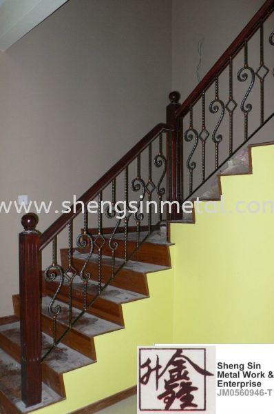 WH 007 Handrail Wrought Iron Johor Bahru, JB, Skudai, 仟表 Design, Installation, Supply | Sheng Sin Metal Work & Enterprise