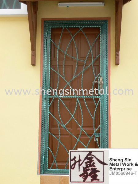 WSD 001 Single Door Wrought Iron Johor Bahru, JB, Skudai, 仟表 Design, Installation, Supply | Sheng Sin Metal Work & Enterprise