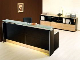 RC-CX2400 glass  Ready-made Series Reception Counter Johor Bahru (JB), Skudai, Batu Pahat Supply Supplier Design | Artrich Office Furniture Sdn Bhd