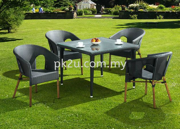 PK-C166-TABLE  PK-A009-CHAIR Out Door Set Cafe & Dining Furniture Johor Bahru, JB, Malaysia Manufacturer, Supplier, Supply | PK Furniture System Sdn Bhd