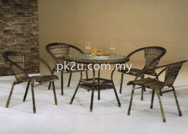 PK-C174-TABLE  PK-B175-CHAIR Out Door Set Cafe & Dining Furniture Johor Bahru, JB, Malaysia Manufacturer, Supplier, Supply | PK Furniture System Sdn Bhd
