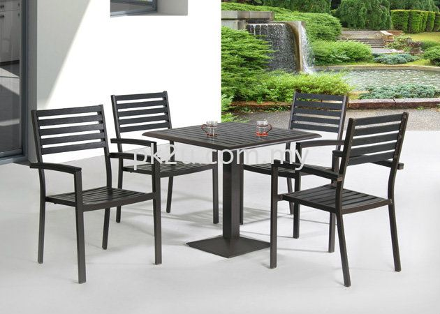 PK-T528-TABLE                          PK-C528-CHAIR Out Door Set Cafe & Dining Furniture Johor Bahru, JB, Malaysia Manufacturer, Supplier, Supply | PK Furniture System Sdn Bhd