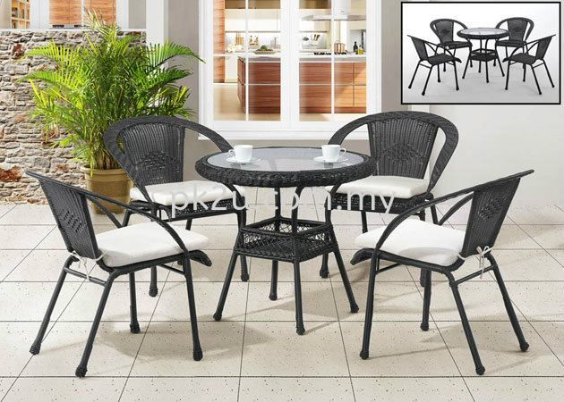 PK-C175-TABLE   PK-B175-CHAIR Out Door Set Cafe & Dining Furniture Johor Bahru, JB, Malaysia Manufacturer, Supplier, Supply | PK Furniture System Sdn Bhd