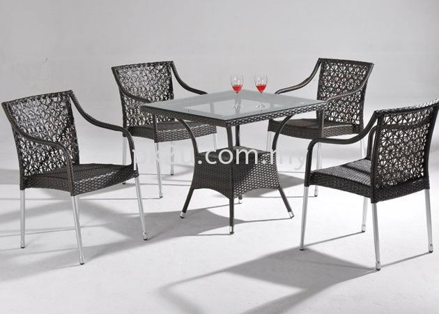 PK-B4101-1(B)-TABLE  PK-A3129-CHAIR Out Door Set Cafe & Dining Furniture Johor Bahru, JB, Malaysia Manufacturer, Supplier, Supply   PK Furniture System Sdn Bhd