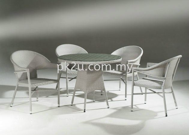PK-B4120-TABLE  PK-A3112-1-CHAIR Out Door Set Cafe & Dining Furniture Johor Bahru, JB, Malaysia Manufacturer, Supplier, Supply | PK Furniture System Sdn Bhd